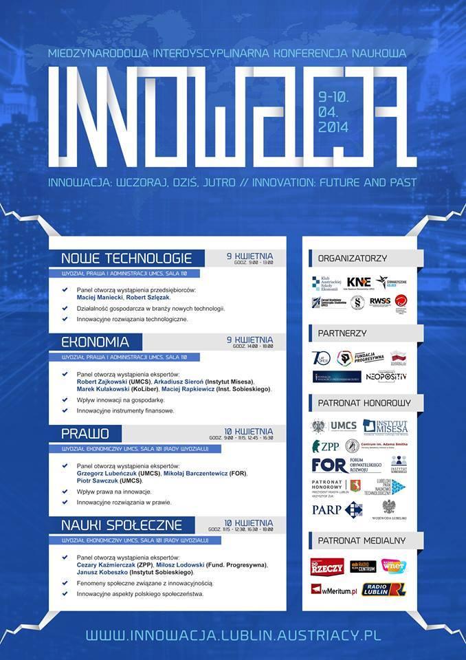 """Konferencja """"Innowacja: wczoraj, dziś, jutro"""""""